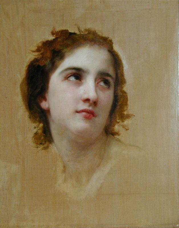 Sketch of a Young Woman - William-Adolphe Bouguereau