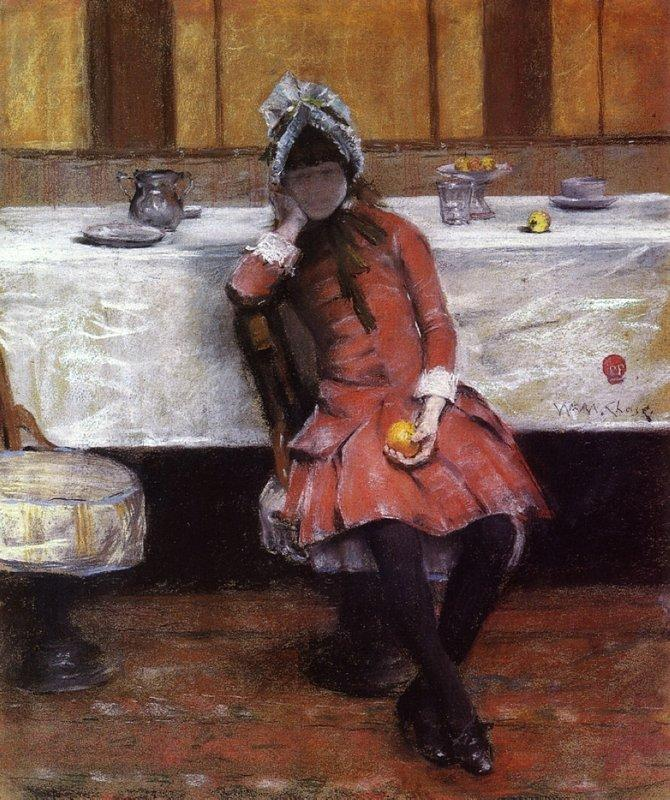 Sketch on a Young Girl on Ocean Steamer - William Merritt Chase