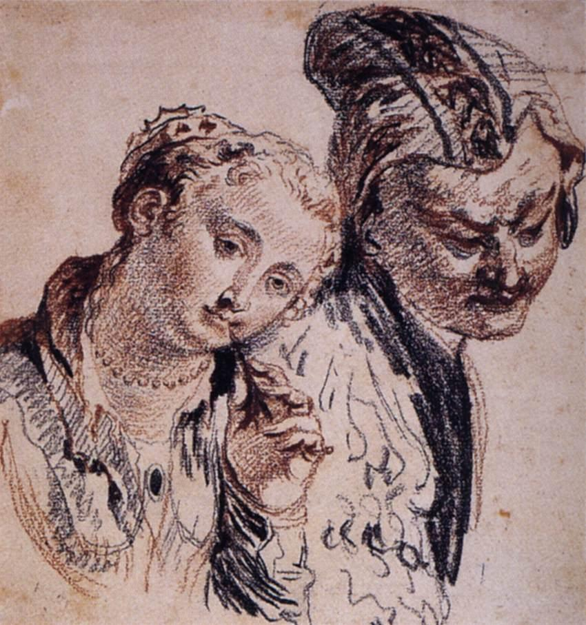 Sketch with Two Figures - Antoine Watteau