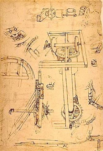 Sketches of the machines - Filippo Brunelleschi