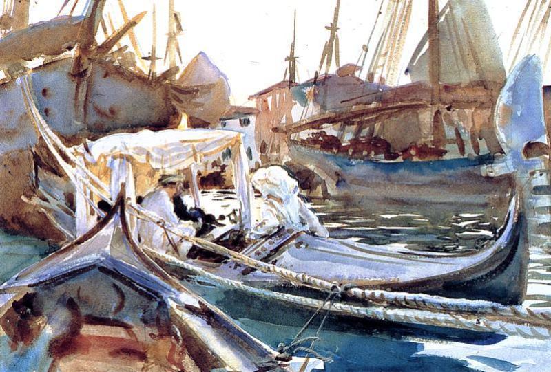 Sketching on the Giudecca - John Singer Sargent