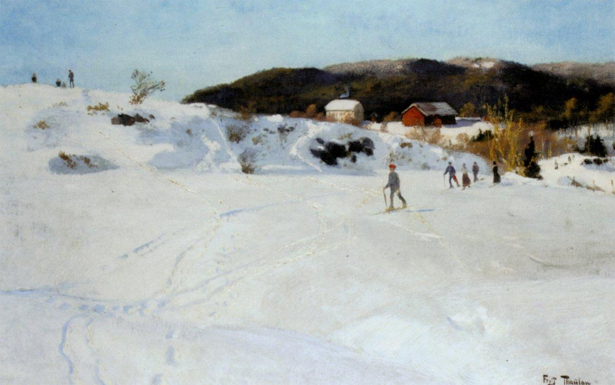 Skiers - Frits Thaulow