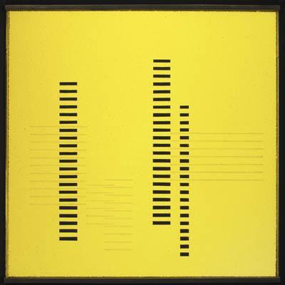 Skyscrapers on Transparent Yellow - Josef Albers