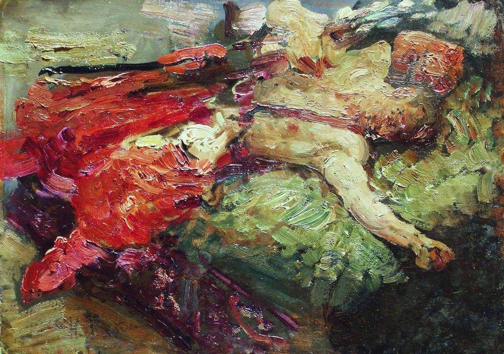 Sleeping Cossack - Ilya Repin