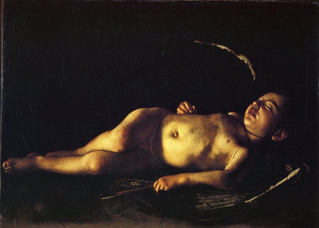 Sleeping Cupid - Caravaggio