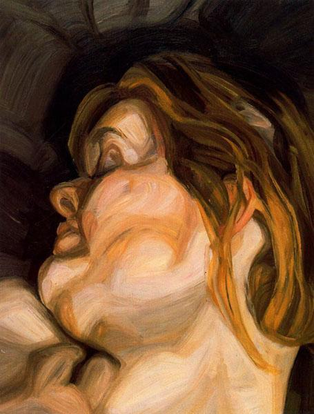 Sleeping Head - Lucian Freud