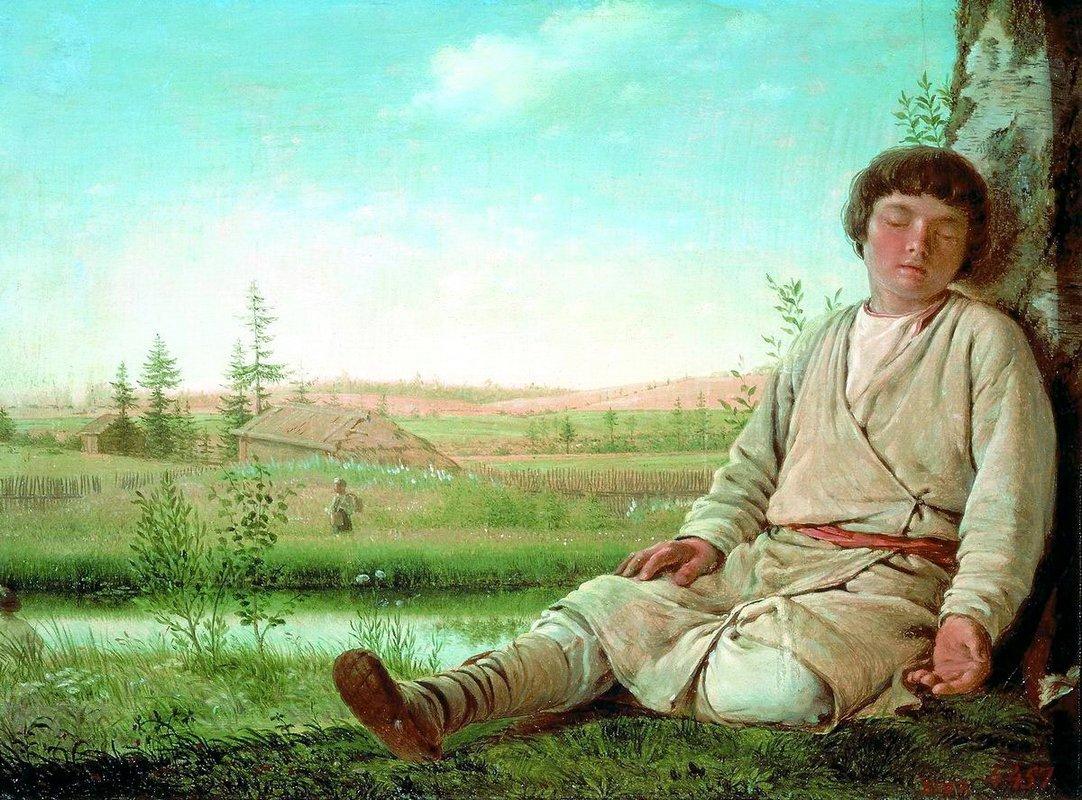 Sleeping Herd-Boy - Alexey Venetsianov