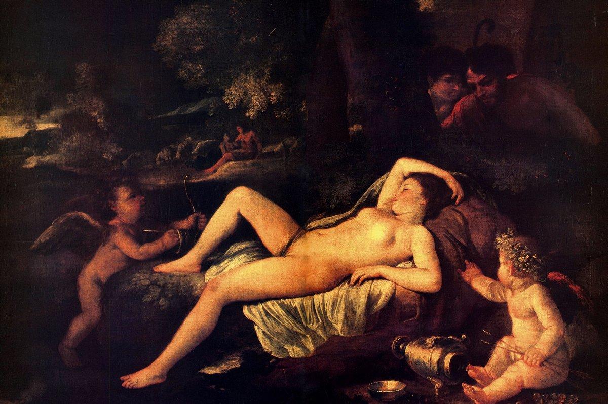 Sleeping Venus and Cupid - Nicolas Poussin