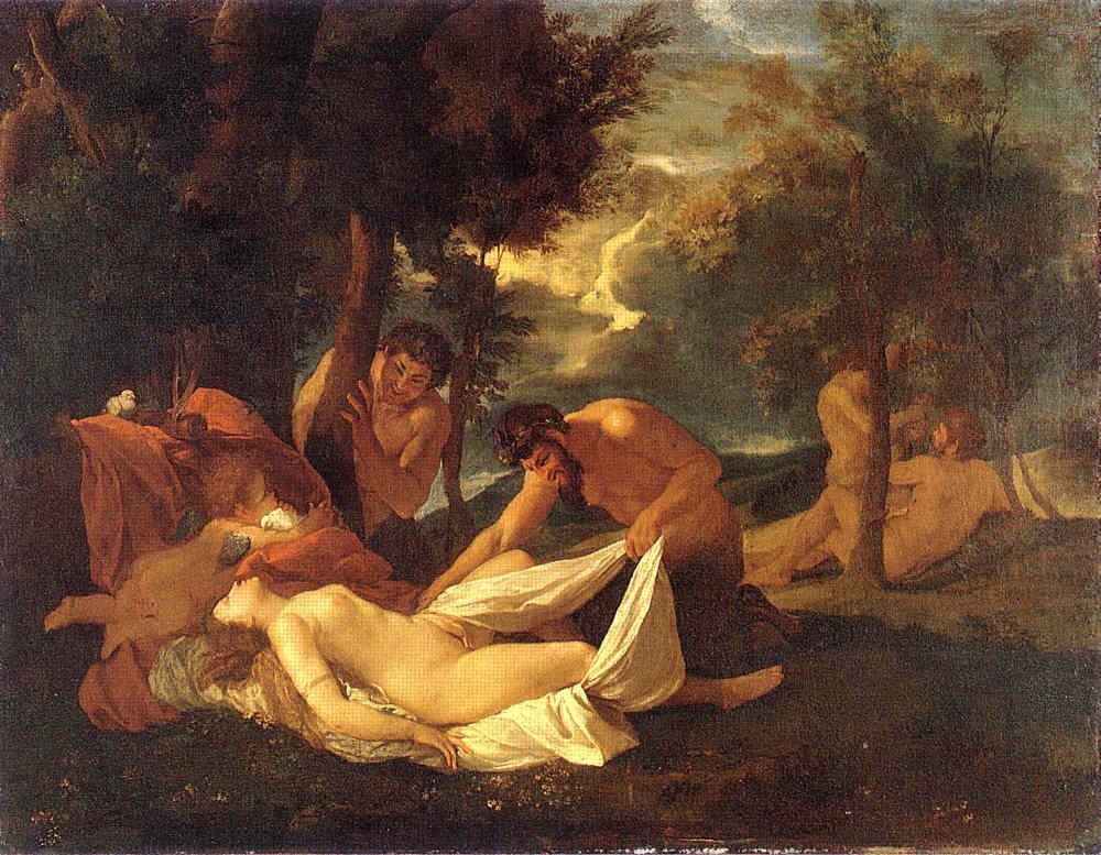 Sleeping Venus, surprised by Satyr - Nicolas Poussin