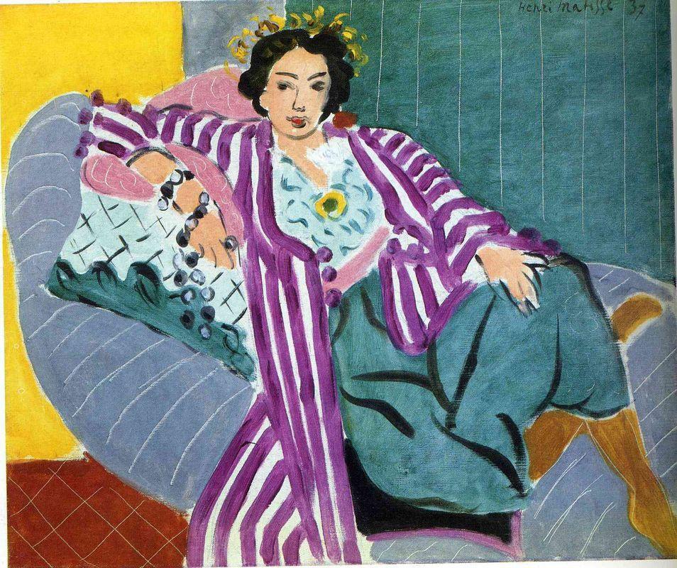 Small Odalisque in Purple Robe - Henri Matisse