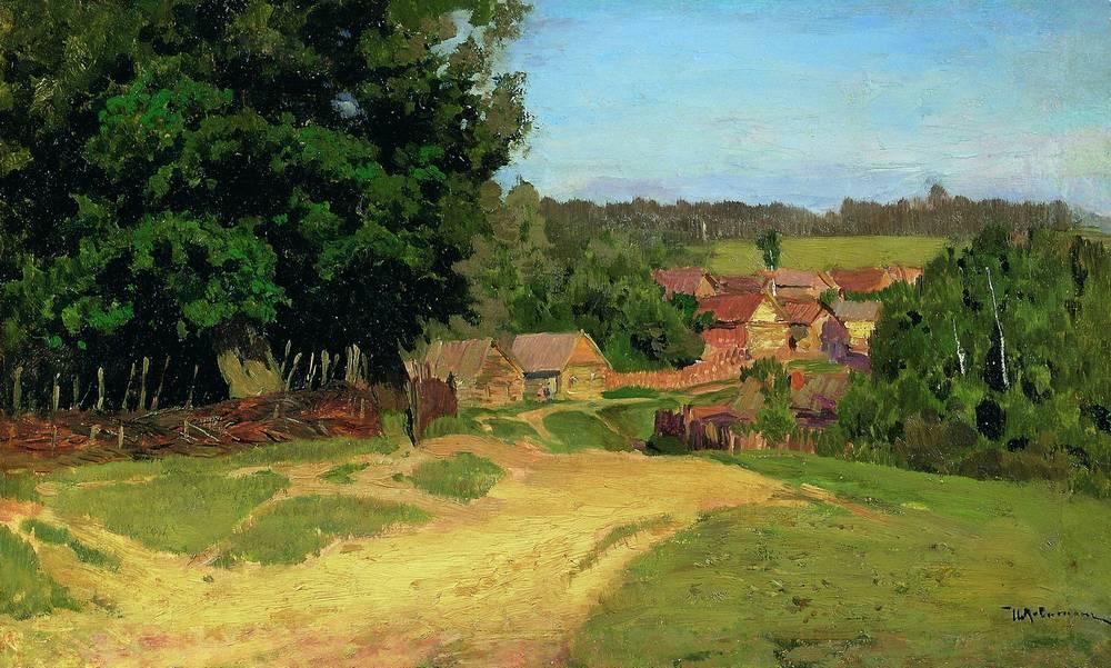 Small village - Isaac Levitan