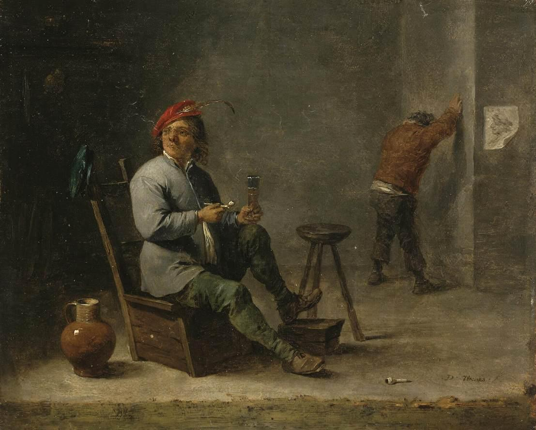 Smoker - David Teniers the Younger