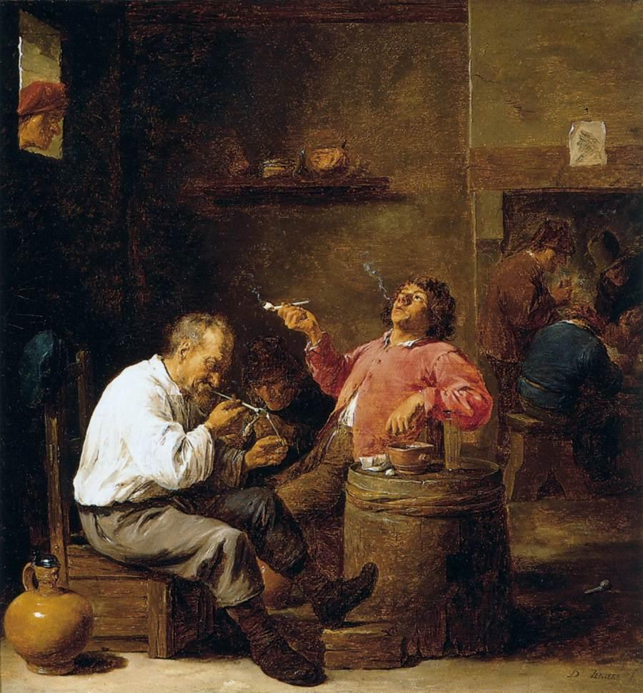Smokers in an Interior - David Teniers the Younger