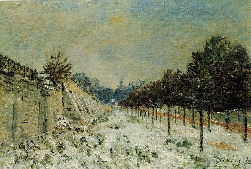 Snow at Marly le Roi - Alfred Sisley