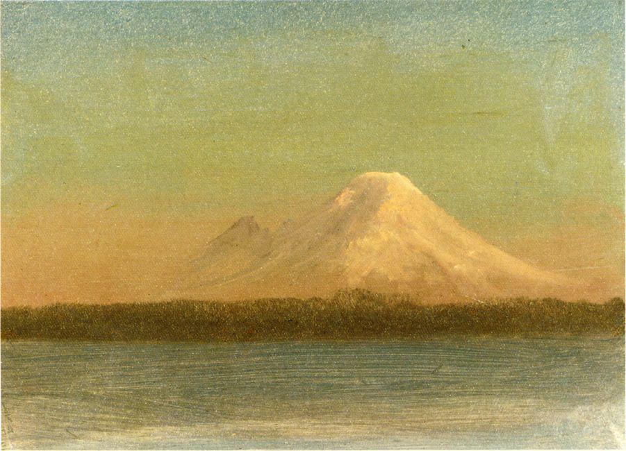 Snow Capped Moutain at Twilight - Albert Bierstadt