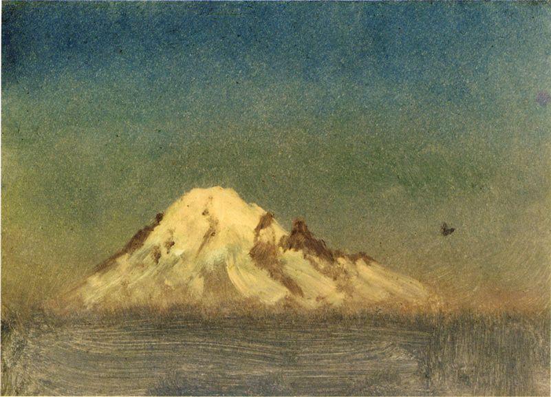 Snow Capped Moutain - Albert Bierstadt