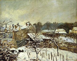 Snow Effect at Louveciennes - Alfred Sisley