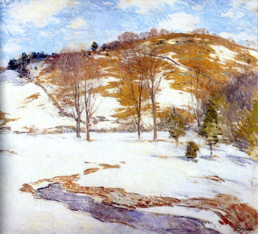 Snow in the Foothills - Willard Metcalf