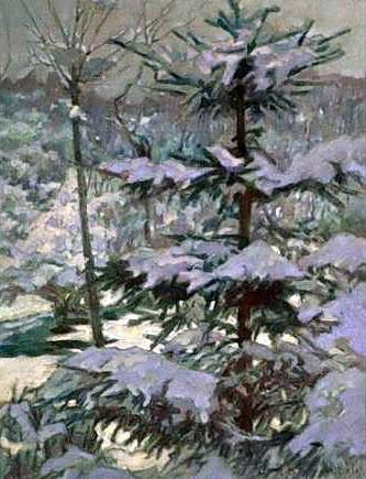 Snow in the Morning - Nikolay Bogdanov-Belsky