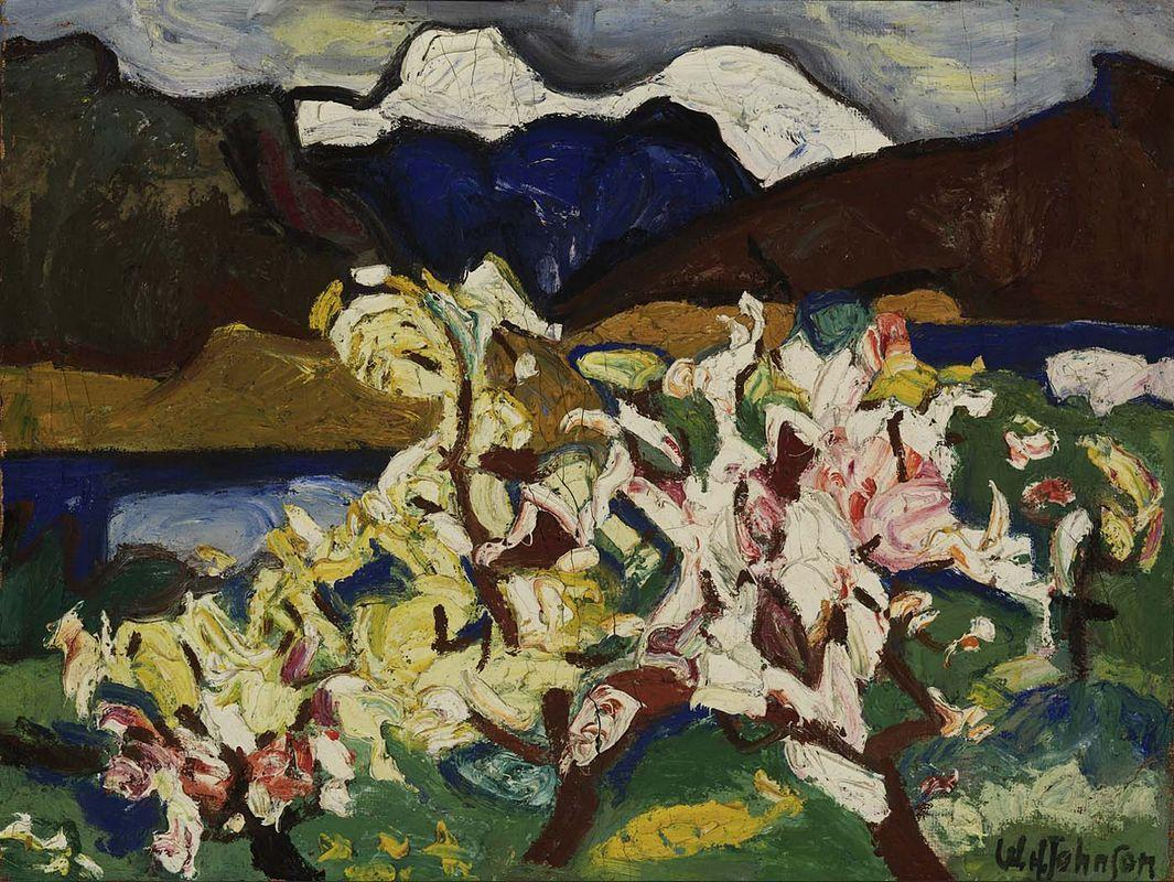Snow Peaks and Blossoms - William H. Johnson