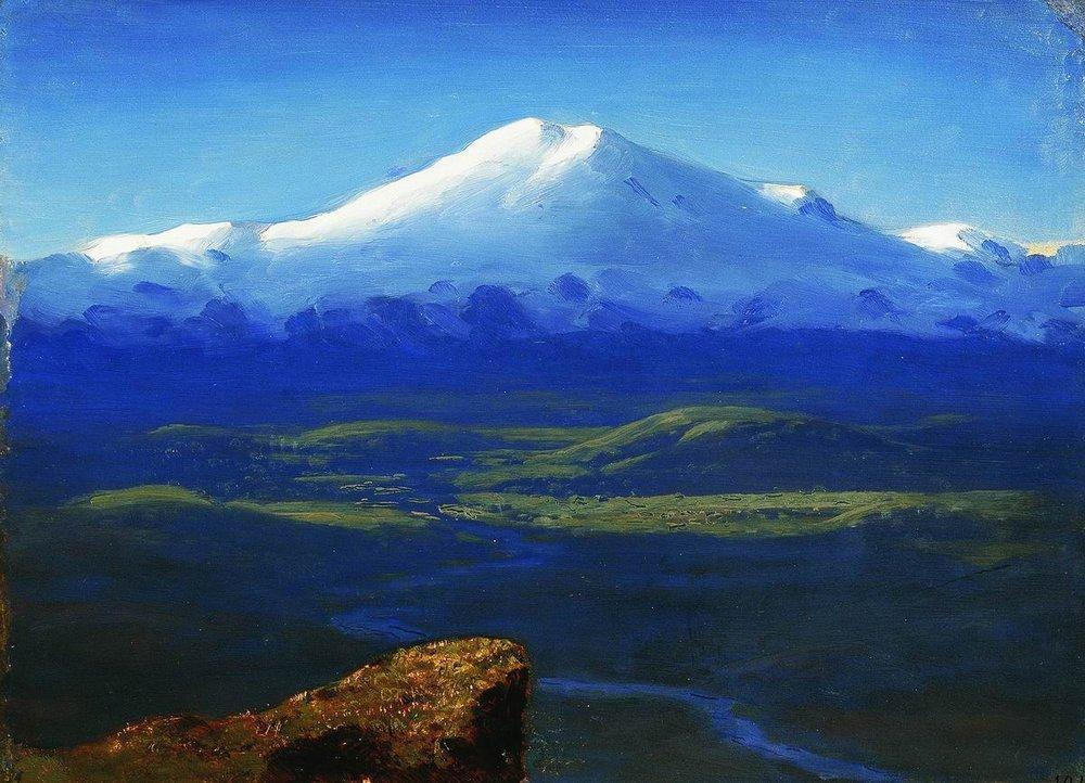 Snow tops - Arkhip Kuindzhi