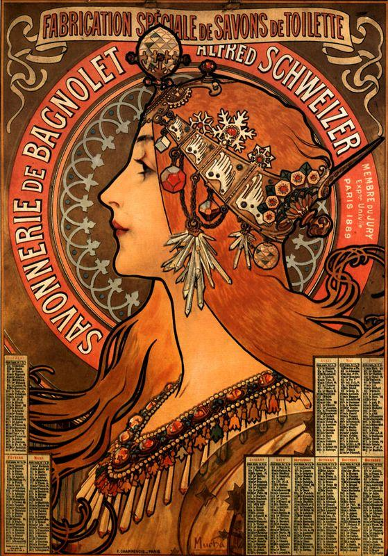 Soap factory of Bagnolet - Alphonse Mucha