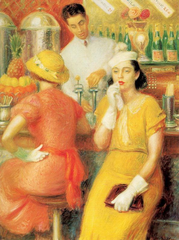 Soda Fountain - William James Glackens