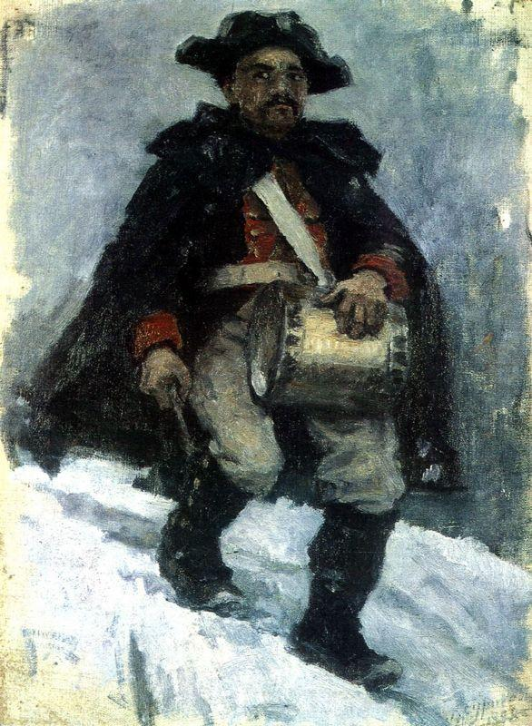 Soldier with drum - Vasily Surikov