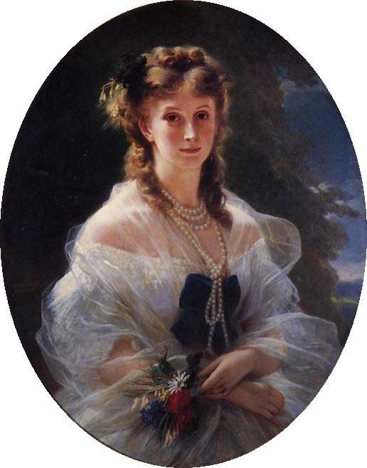 Sophie Trobetskoy, Duchess of Morny - Franz Xaver Winterhalter