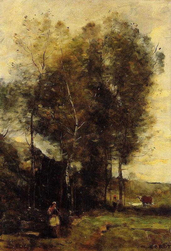 Souvenir of Brittany - Camille Corot