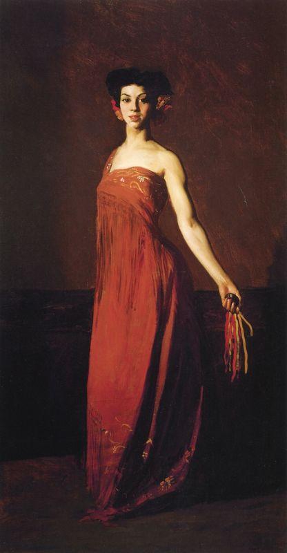 Spanish Dancer - Seviliana (also known as Dancer with Castanet)  - Robert Henri