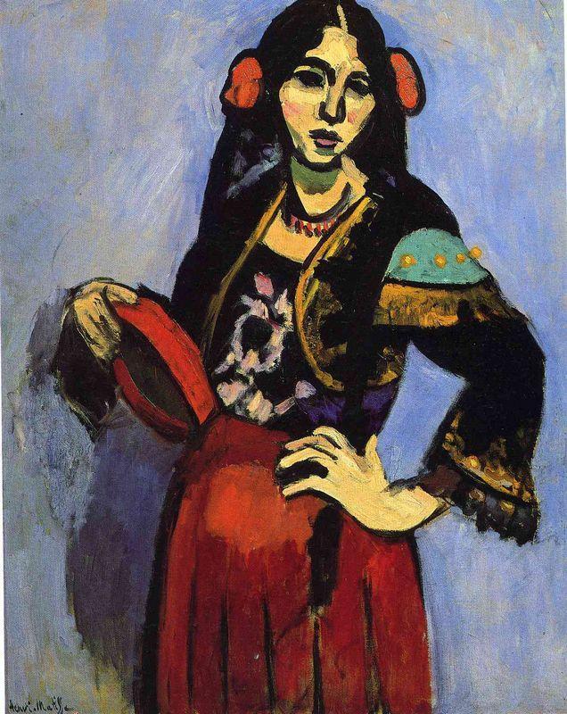 Spanish Woman with a Tamborine - Henri Matisse
