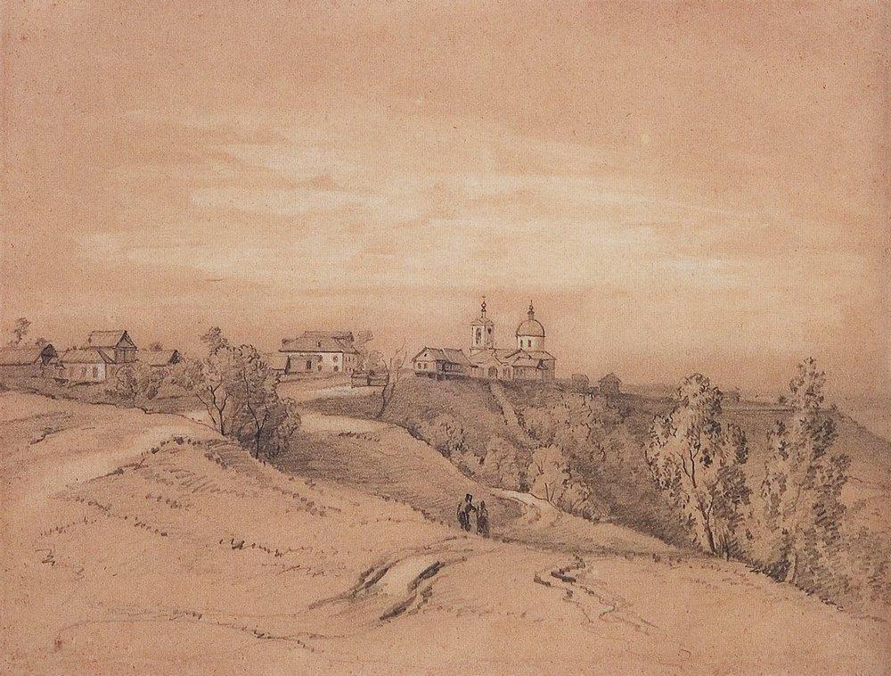 Sparrow Hills near Moscow - Aleksey Savrasov