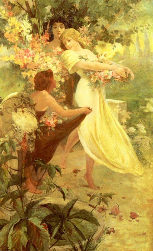 Spirit Of Spring - Alphonse Mucha