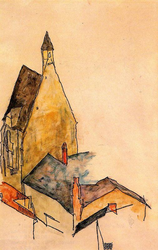Spitalskirche, Molding - Egon Schiele