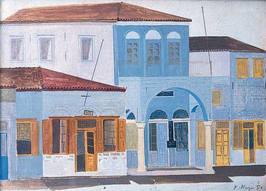 Houses at Hydra - Nikos Nikolaou