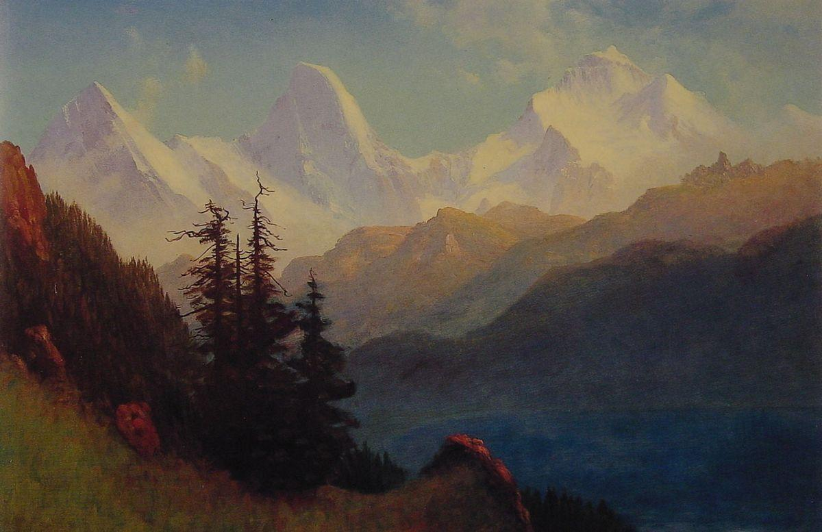 Splendour of the Grand Tetons - Albert Bierstadt