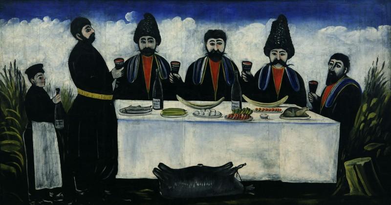 The feast of four citizens - Niko Pirosmani