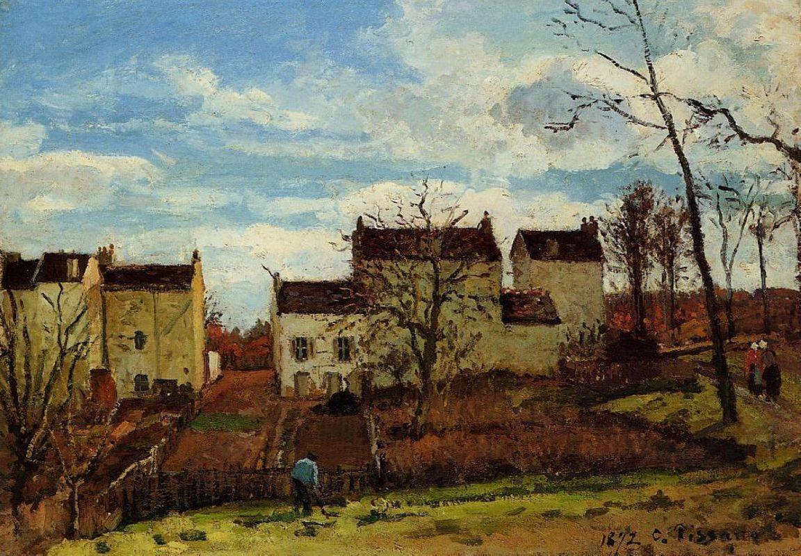 Spring at Pontoise - Camille Pissarro
