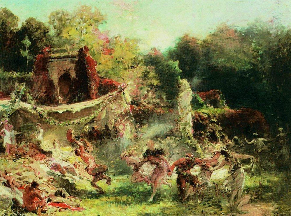 Spring Bacchanalia - Konstantin Makovsky