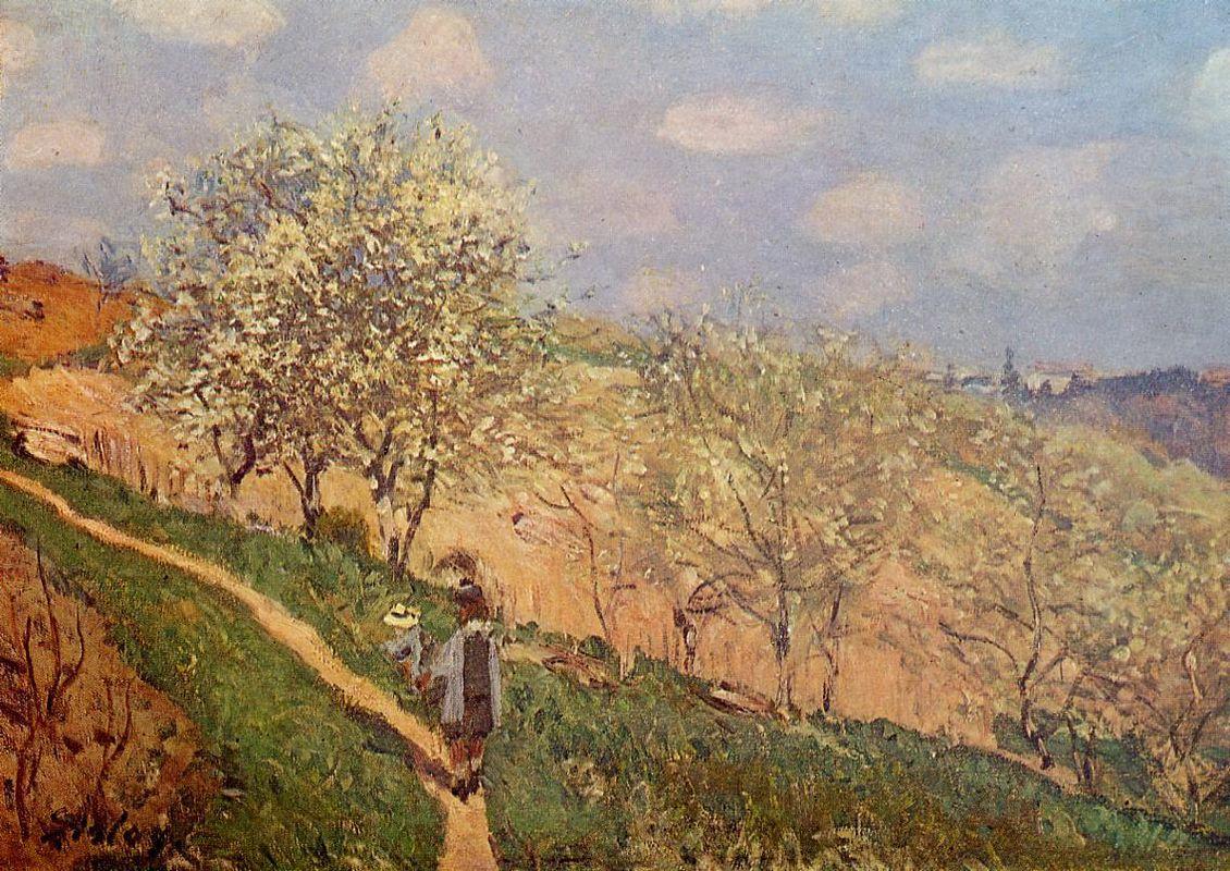Spring in Bougival - Alfred Sisley