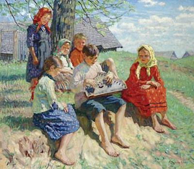 Spring Rehearsal - Nikolay Bogdanov-Belsky