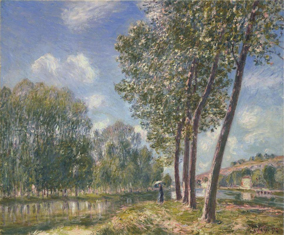 Spring Sunshine on the Loing - Alfred Sisley