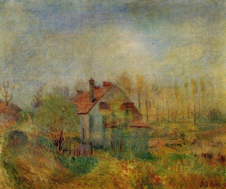 Springtime Scene Morning - Alfred Sisley