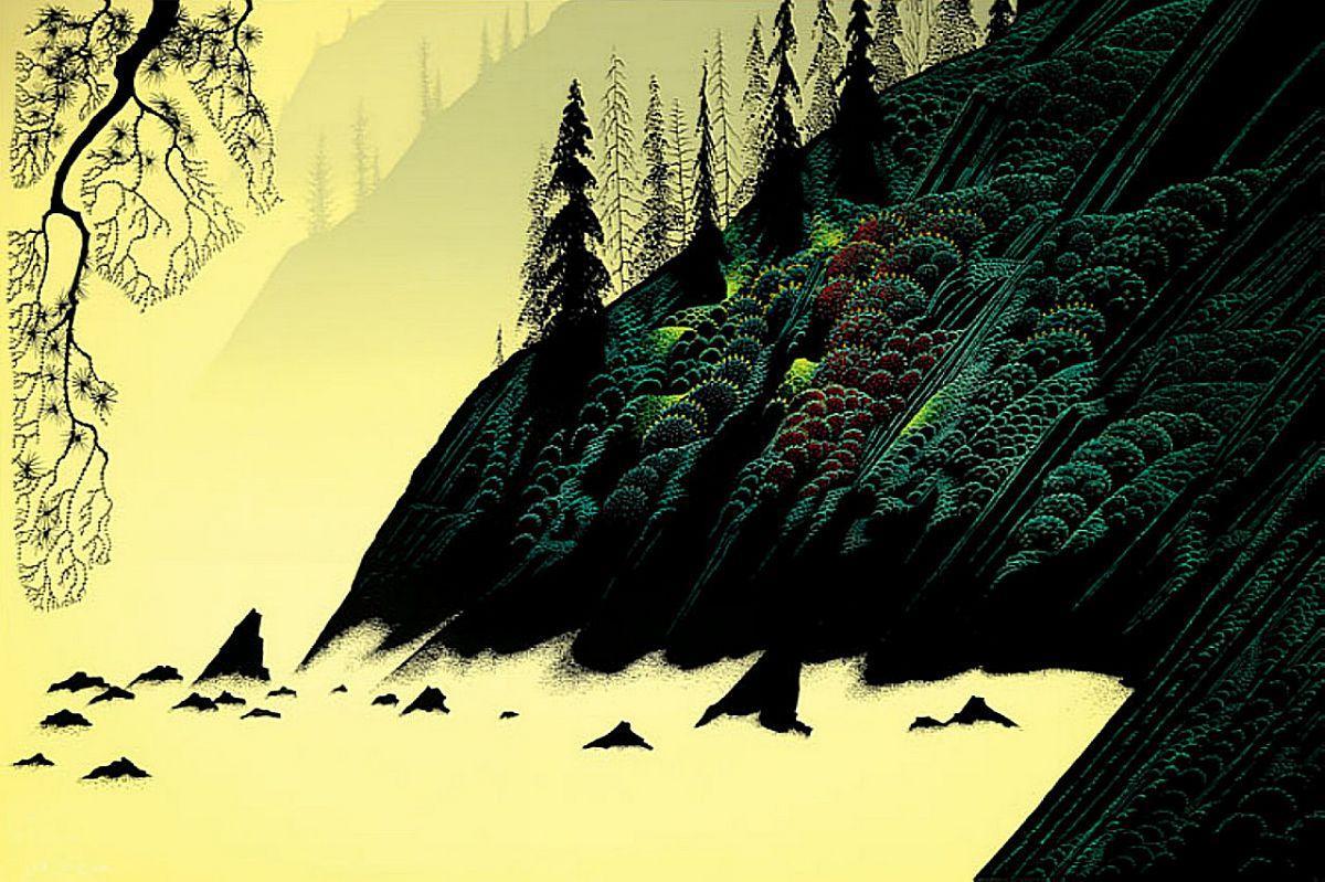 Spruce Redwood and Pine - Eyvind Earle