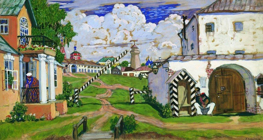 Square at the exit of the city - Boris Kustodiev