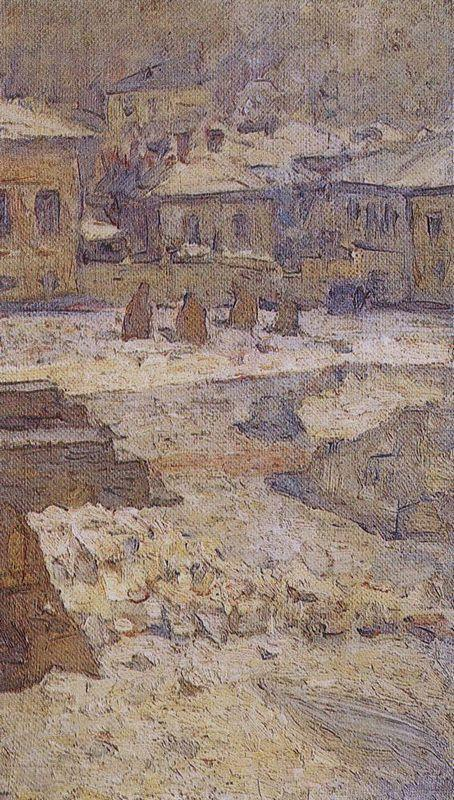 Square in front of the Museum of Fine Arts in Moscow - Vasily Surikov