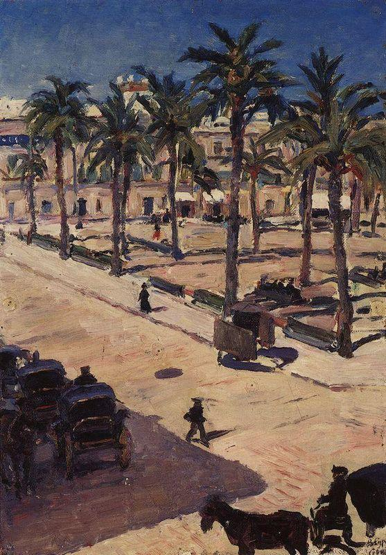 Square ??San-Fernando in Seville - Vasily Surikov