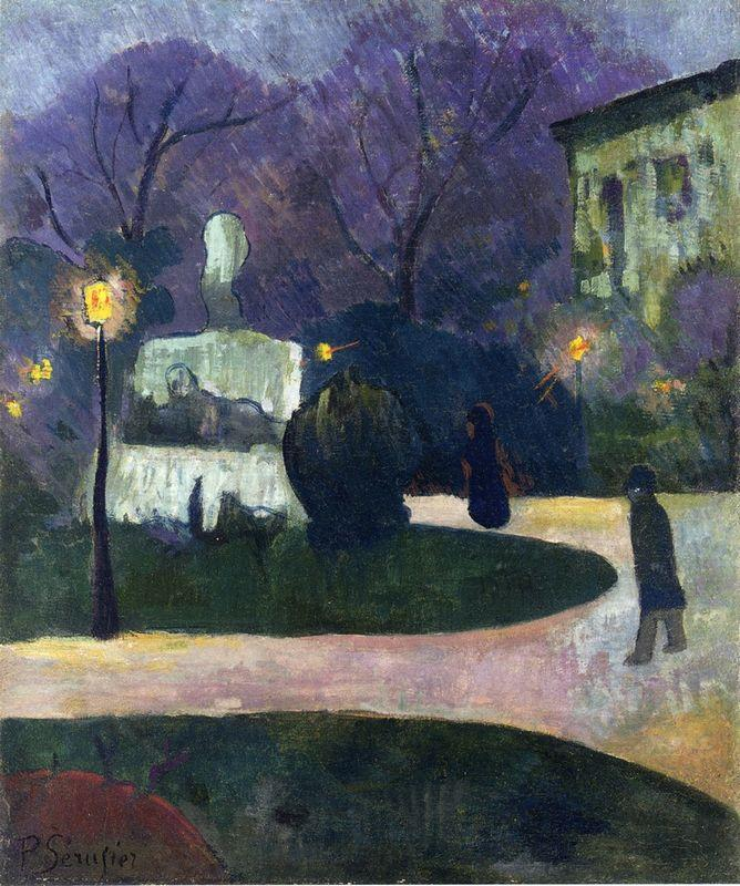 Square with Street Lamp - Paul Serusier