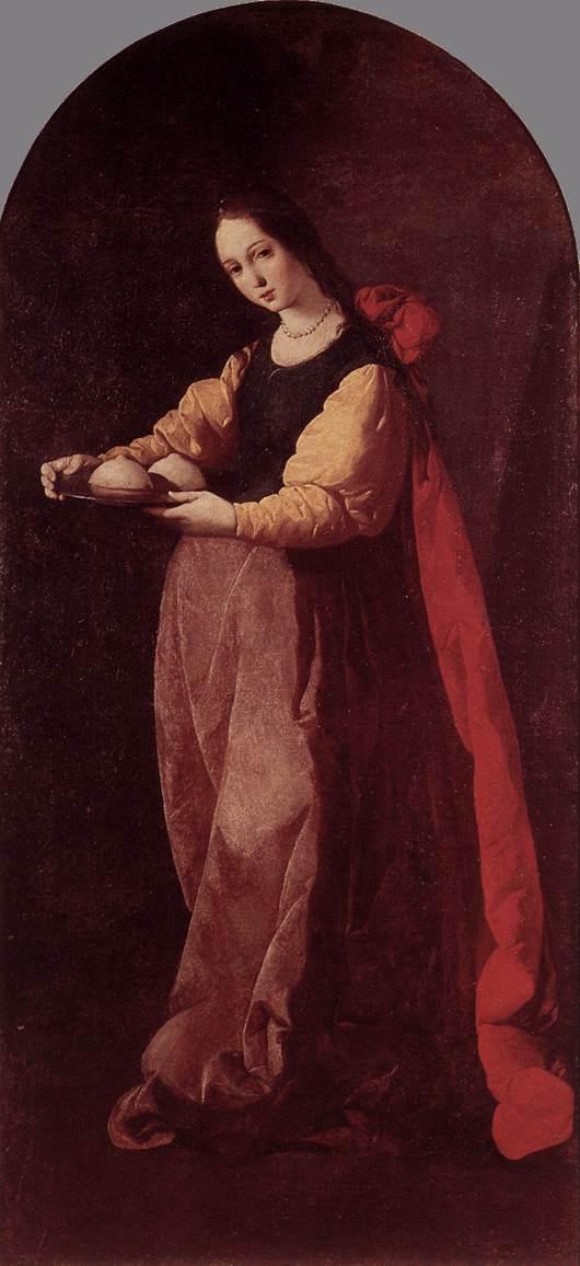 St. Agatha - Francisco de Zurbaran